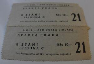 Ticket for collectors Czechoslovakia Dukla Juhlava Sparta Praha 2 tickets 80's - Internet, Polska - Ticket for collectors Czechoslovakia Dukla Juhlava Sparta Praha 2 tickets 80's - Internet, Polska