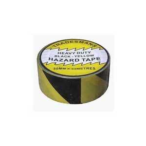 HAZARD-TAPE-50MM-X-33M-SELF-ADHESIVE-PVC-FLOOR-MARKING-BLACK-YELLOW-SAFETY-TAPE