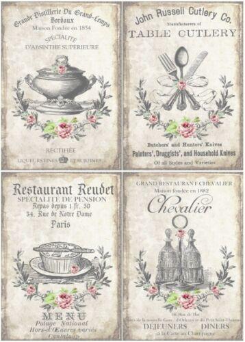 Reispapier-Motiv Strohseide-Decoupage-Serviettentechnik-Vintage-Küche-19059