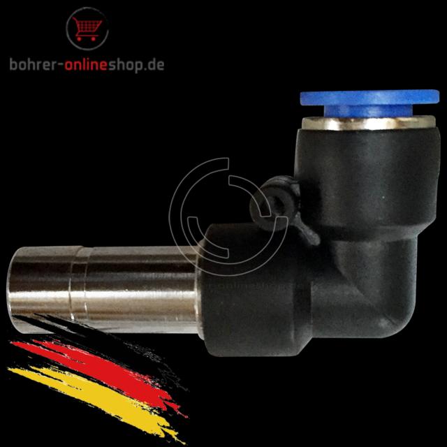 """Pneumatik Druckluft 90° Winkel-Schwenkverschraubung Ø 4mm mit Gewinde BSPT R1//4/"""""""