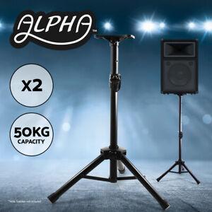 2pcs-Speaker-Stands-Stand-Tripod-Adjustable-Height-Mount-Studio-Floor-Stage-Home