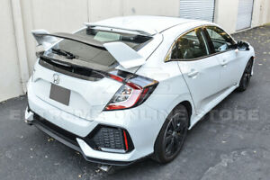 Type-R-Style-PRIMER-BLACK-Rear-Lid-Wing-Spoiler-For-16-Up-Honda-Civic-Hatchback