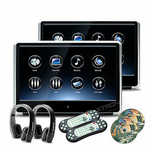2x 11 6 1920x1080 touchscreen auto kopfst tze monitor dvd. Black Bedroom Furniture Sets. Home Design Ideas