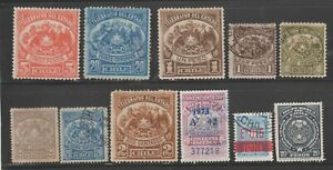 Chile-TELEGRAPHS-amp-fiscal-Revenue-Cinderella-stamps-ma37