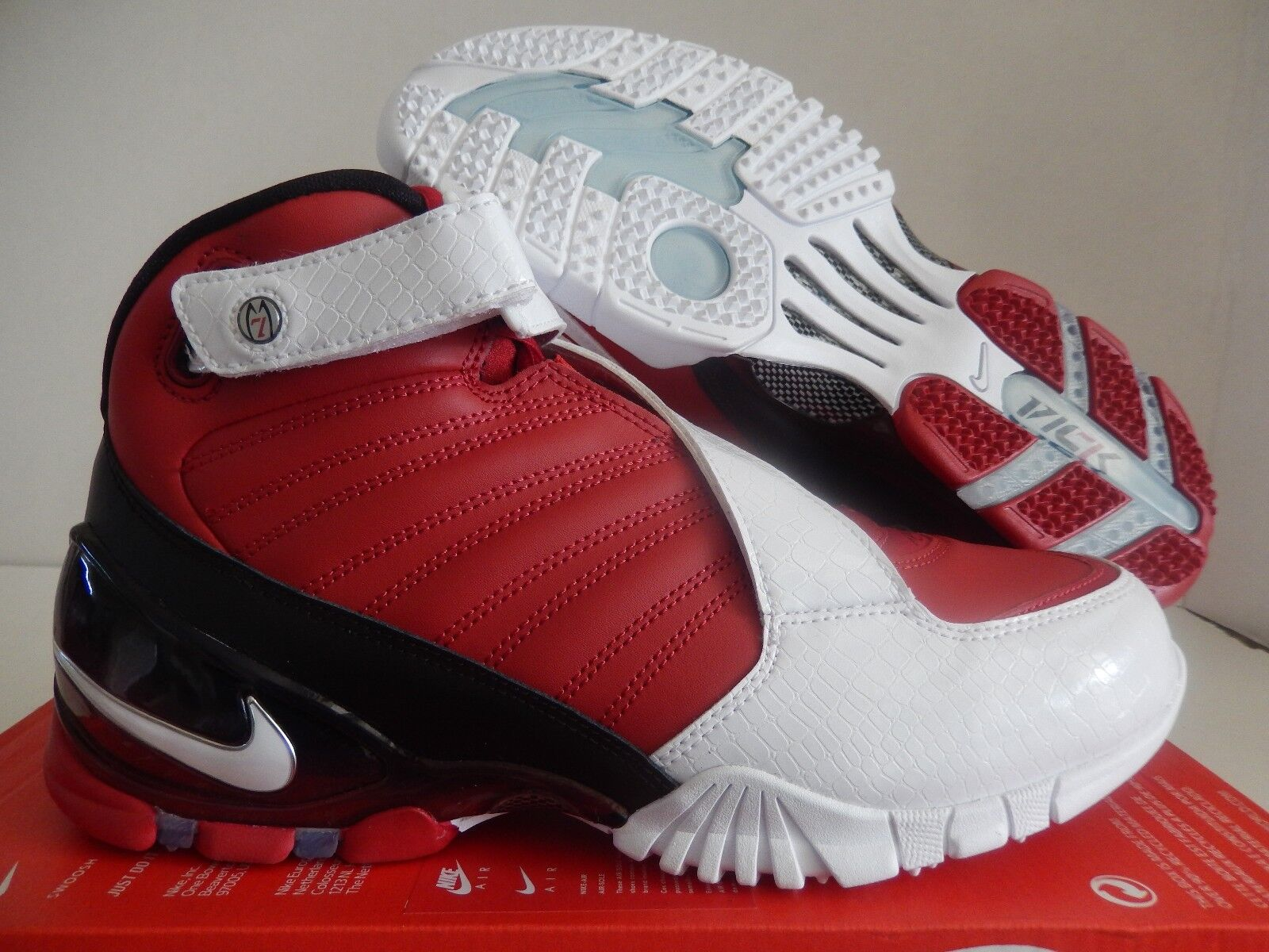 NIKE ZOOM VICK III 3 VARSITY RED-WHITE-BLACK SZ 7 [832698-600]