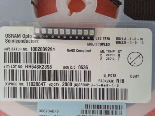 572 Presque comme neuf-LSGT 670-Neuf 10 pièces standard voyants-bi-color-ROUGE//VERT