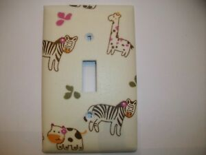 Sock Monkey/'s Decorative Decoupage Light Switch Covers Made to Order