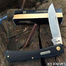 SCHRADE Black Imperial Large SOD BUSTER Straight Folding Pocket Knife IMP22L