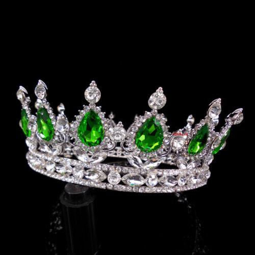 5cm High Princess Queen Round Crown Wedding Tiara 14 Colors 13cm Diameter
