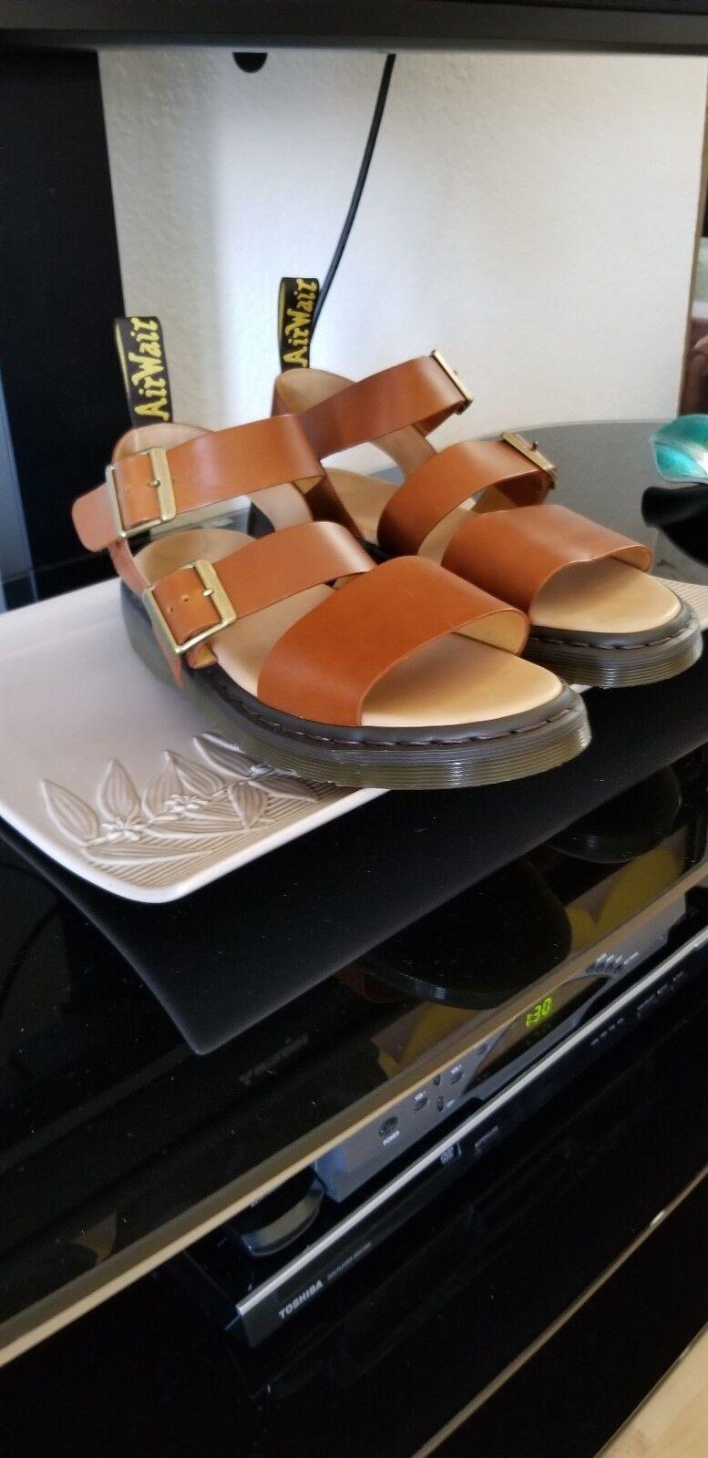 Dr. Martens Gryphon Strap Sandals Oak Analine Mens US Size 11Tan - Brown