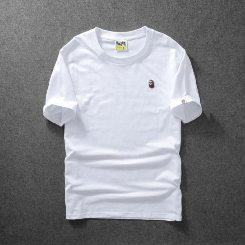 Men/'s Bape Monkey Head Pattern Round Neck A Bathing Ape T-Shirt Tee Shirt