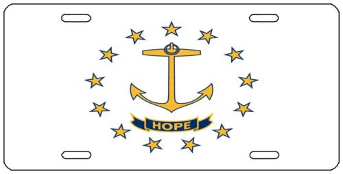 Rhode Island State Flag License Plate Novelty Auto Car Tag Vanity Gift RI