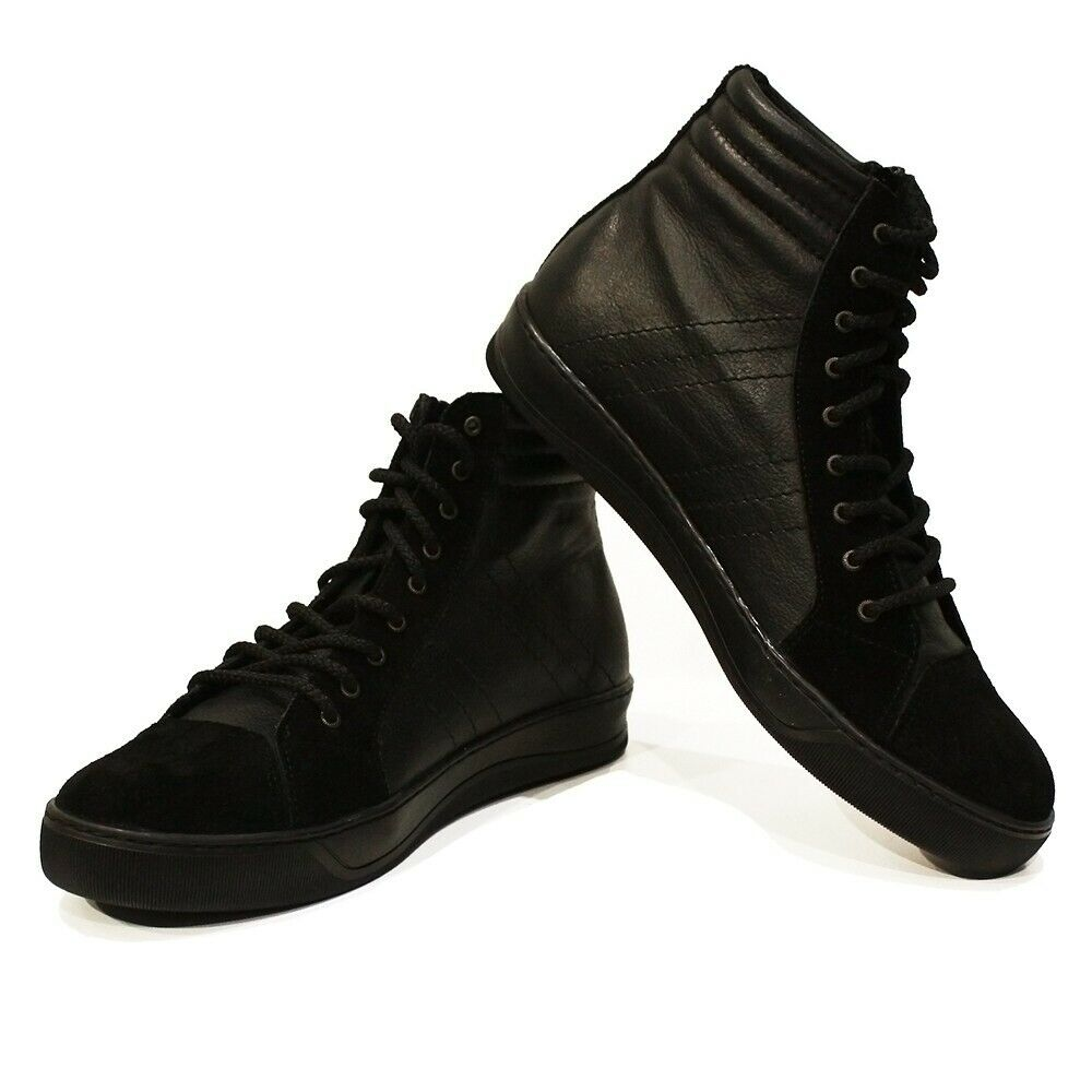Modello Tricko - Handmade Italian Black Fashion Sneakers Casual Shoes - Cowhide