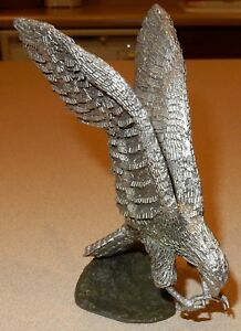 Details about Honeywell / HUDSON PEWTER BALD EAGLE  collectable, vintage,  70's paper weight