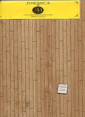Flooring Sheet 7152-58 Formica miniature 1:12 scale USA Oak 90 sq.in