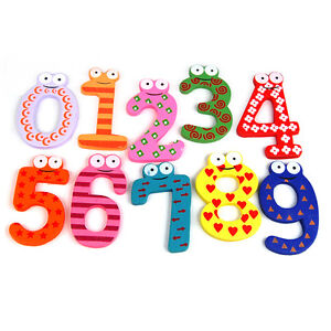 10pcs Colorful Math Symbols Fridge Magnet Kid Wooden Teaching Learning Toy