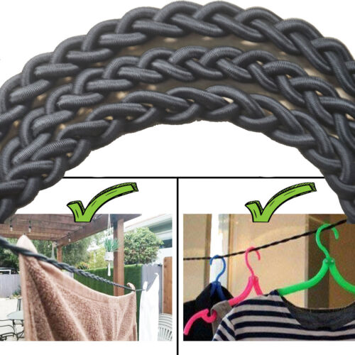 Tri-Braided Travel Clothesline Clothes Washing Line Airer Laundry Drying Hanger