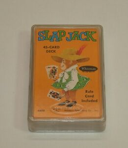 Vintage-Whitman-SLAPJACK-Complete-Set-45-Cards-Play-or-Crafts-w-Plastic-Case