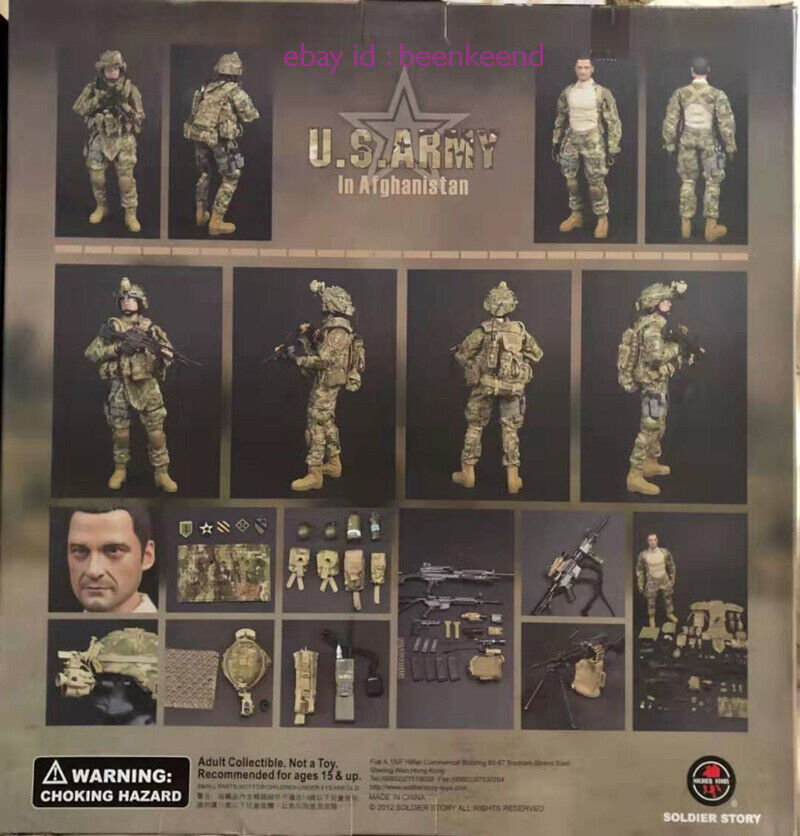 1//6 scale toy US Army in Afghanistan Jude Law Multicam Uniform Patches