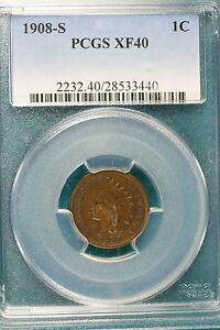 1908-S-PCGS-XF40-Indian-Head-Cent-E0989