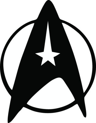 Star Trek Nerd Vinyl Decal Car Geek Laptop Federation Symbol // Logo