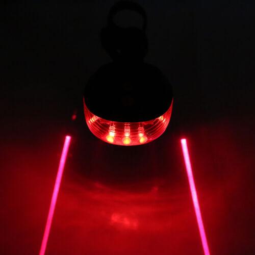 Bike 2Laser+5 LED Flashing Lamp Rear Cycling Bicycle Tail Safety Warning Light j