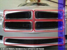GTG 2011 - 2014 Dodge Charger 5PC Gloss Black Overlay Billet Grille Grill Kit
