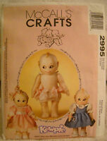 Mccalls Crafts Jesco Kewpie Doll Dress Pattern. Never Used Uncut And