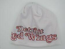 Detroit Red Wings White/Red Reebok Men's Cuffless Knit Hat