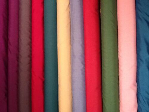 "Plain Poly cotton pre shrunk Dress Fabric  £2.75//m 44/""//1.12metres wide"