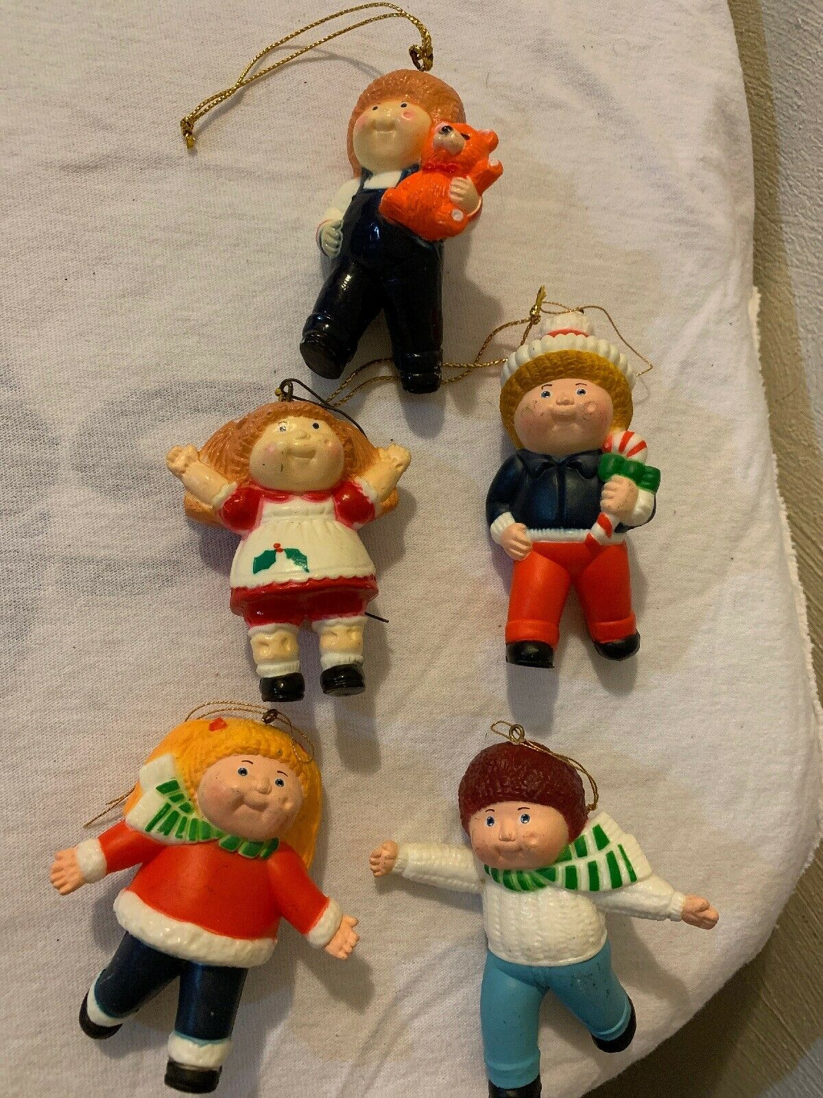 4 Different Vintage Cabbage Patch Kids Christmas Cards 1984