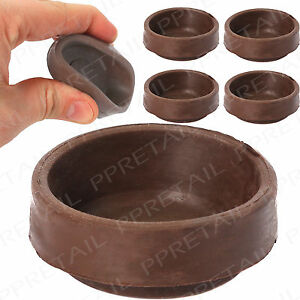 Details About 4 X Rubber Castor Cups Anti Scratch Carpetwoodentile Floor Protector Small