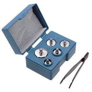 5pcs-SET-100g-gramos-Precision-CALIBRADO-Peso-TEST-medida-para-Bascula-Digital