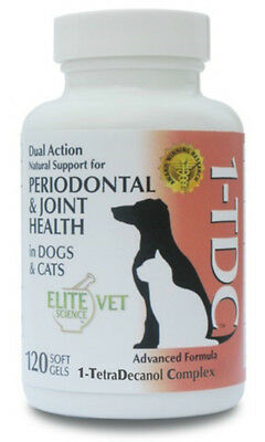 Elite Science 1-TDC Dual Action Periodontal Joint Health Cats Dogs 120 Soft Gels