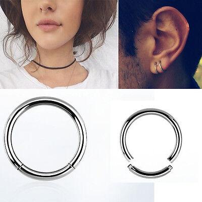 "1-4PC Segment Ring Seamless 12G Silver 3//8/""-5//8/"" Captive Bead Ring Septum Tragus"