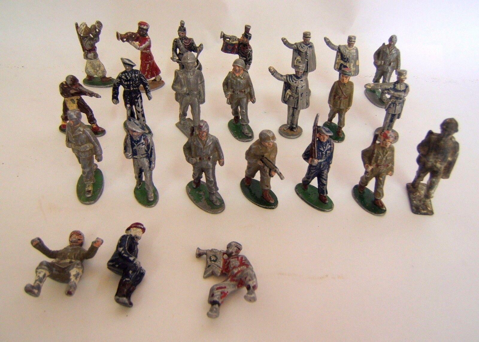 24 Stück Packung Petit Soldat Quiralu Spielzeug Antik