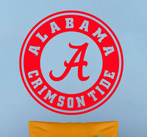 Alabama Crimson Tide Wall Decal Vinyl Sticker Art Home Decor Ncaa Football Logo Ebay