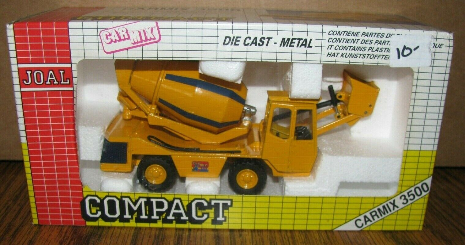 Cochemix 3500 Mezclador de hormigón cemento camión 1 50 Joal Juguete 171 Die Cast Metal Vintage