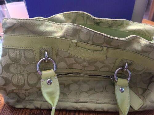 COACH Lime Green Purse Handbag