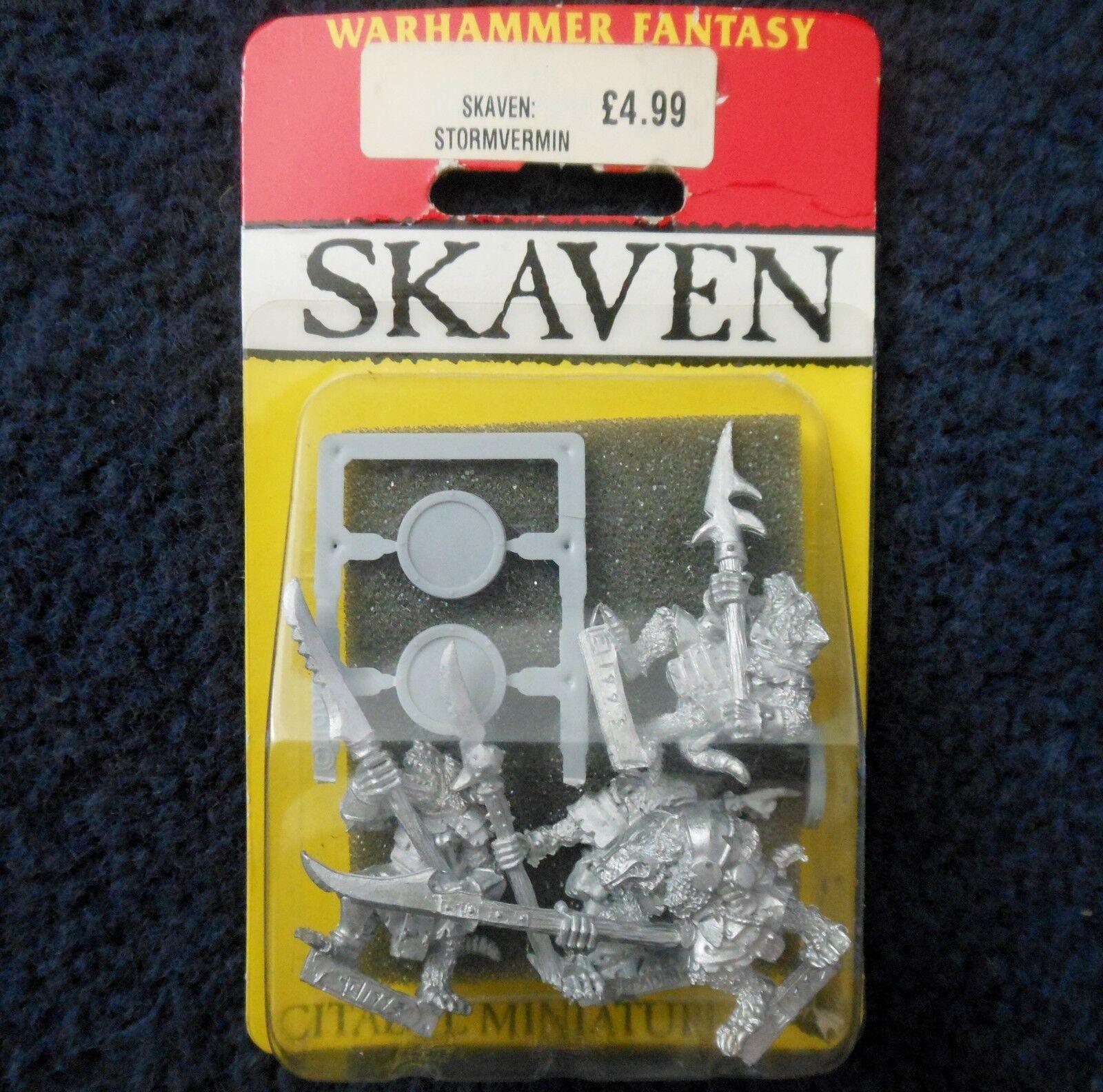 1987 Skaven Stormvermin with Halberd S1 Chaos Ratmen Citadel Warhammer Army MIB