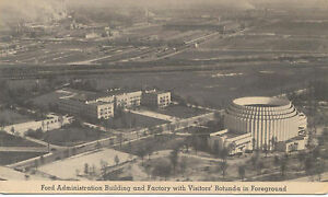 Ford-Administration-Bulding-and-Factory-original-Postcard