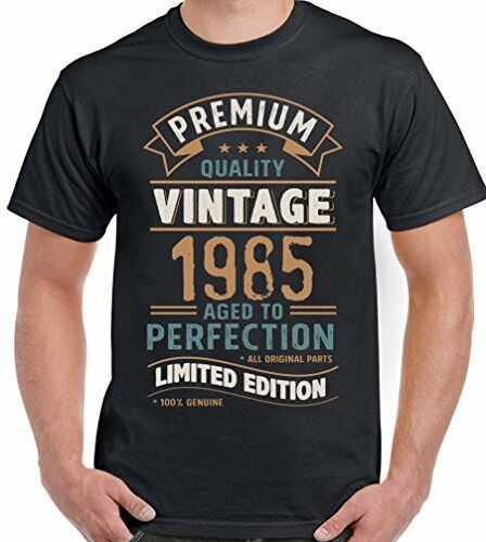 Limited Edition 34th Birthday Mens Funny T-Shirt 34 Year Old Vintage Year 1985