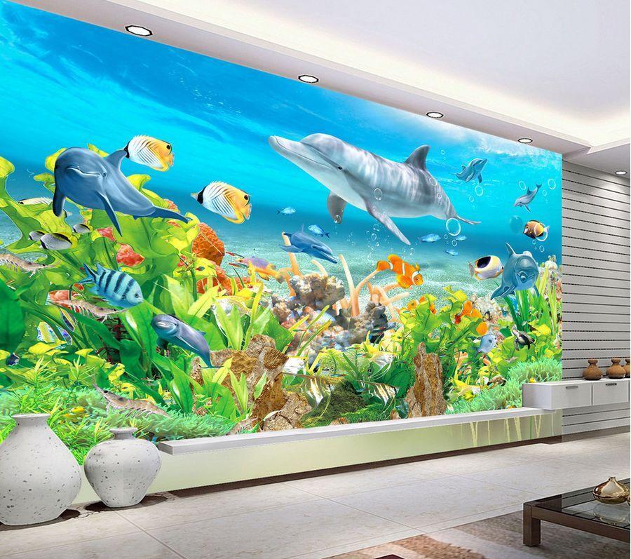 3D Pour SeaWorld 71 Photo Papier Peint en Autocollant Murale Plafond Chambre Art