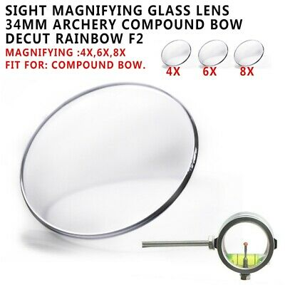 6x 8x Sight Lens 3.5cm Archery Compound Bow Scope Power Lens  Magnifying Glass