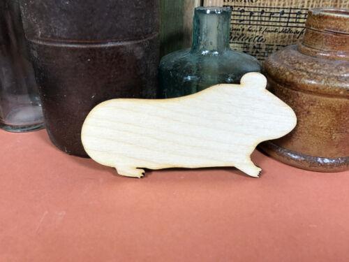 Guinea Pig Formas De Madera Varios Tamaños Madera capas forma Artesanía En Blanco 2.5cm a 25cm