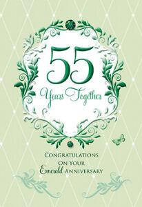 Anniversario Di Matrimonio Biglietti Auguri.Emerald 55th Biglietto D Auguri Anniversario Di Matrimonio Ebay