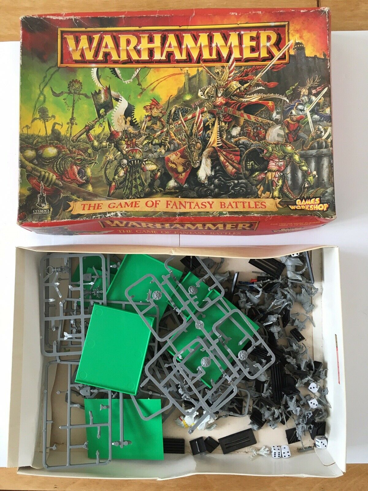 Vintage Warhammer Lot - The Game Of Fantasy Battles Lizard, Archers, Horses Etc