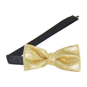 Gold Sparkling Banded Bow Tie