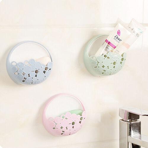 Sink Shelf Soap Sponge Drain Rack Bathroom Holder Kitchen Storage Suction Cup O3