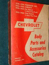 1938-1964 CHEVROLET CAR / TRUCK BODY PARTS CATALOG BOOK